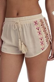 Final Sale- Ivory Going To The Desert Shorts