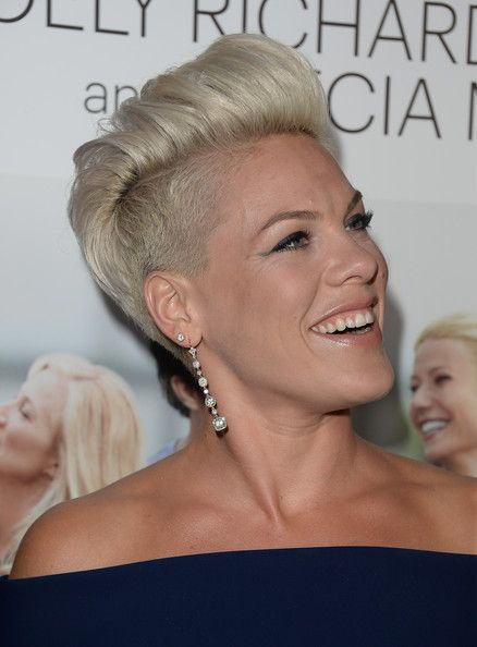 Short Hairstyles Lookbook: Pink wearing Fauxhawk (14 of 56). Pink sported a funky fauxhawk when she attended the 'Thanks for Sharing' premiere.