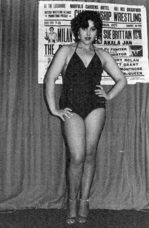 Old School UK Female Wrestler Ana Marie Martinez