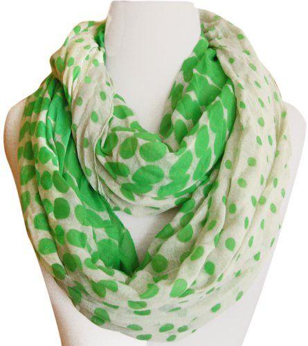 Striking Vintage Style Multicolored Polka Dot Loop Scarf (Green & Cream) Peach Couture,http://www.amazon.com/dp/B00G5KEFJG/ref=cm_sw_r_pi_dp_j88Osb1SFS6KE2KP
