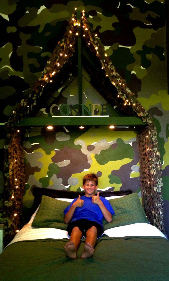 Boys room camouflage bedroom kids room pinterest for Camo kids room