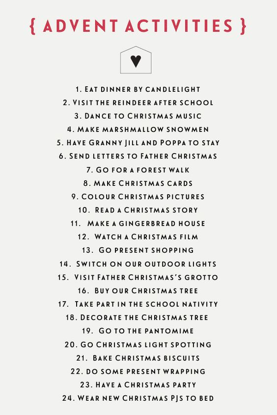 Each day, Homemade and Advent calendar on Pinterest