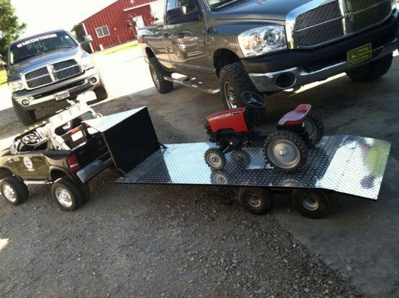 www cummins kids power wheel w trailer and tractor misc pi. Cars Review. Best American Auto & Cars Review