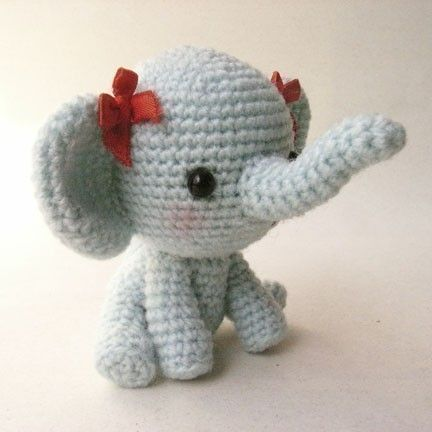 Ella The Elephant Free Crochet Pattern : Little Elphie - PDF crochet pattern Crochet elephant ...