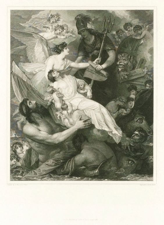 Apotheosis of Nelson - Benjamin West - Royal Museums Greenwich ...