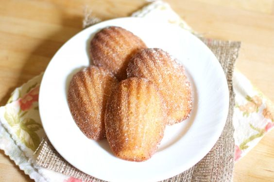 French Madeleines. I want a madeleine shaped pan to try these out because they are without a doubt one of my favorite treats.