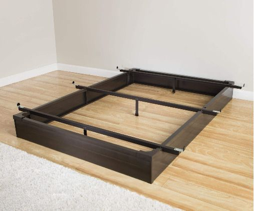 Queen Metal Bed Frame Hotel Style Base Flush To Floor Design