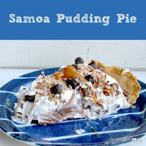 chocolate pudding and more pudding pies samoa puddings pies pie pie ...