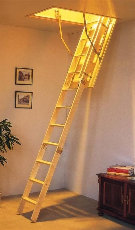 An Attic Ladder Is A Retractable Stairs That Takes Down From The Ceiling To Offer Access To Attic Room Attic Stairs Folding Attic Stairs Attic Stairs Pull Down