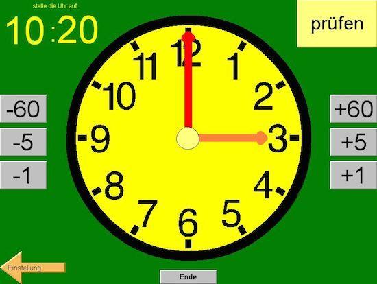 Mit dem Uhrzeittrainer von Norbert Römer üben Kinder, die digitale Uhr als analoge Uhr zu stellen. Wie alle anderen Programme von Norbert Römer ist auch dieses Programm schlicht und einfach gestaltet, so dass die Kinder sich auf das Wesentliche konzentrieren…Weiterlesen ›