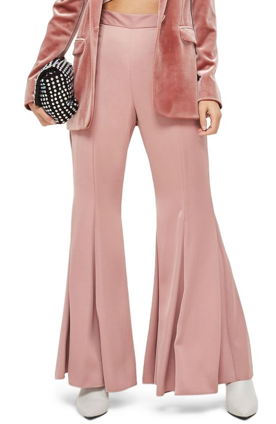 Satin Super Flare Trousers