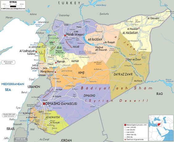 syria Map of Syria and Syrian Political Map – Syria Map World