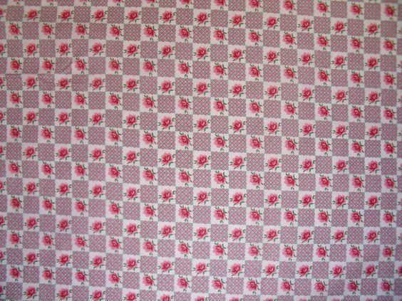 Stoff Shabby  Rosen Quadraten Patchwork Rosen in Quadraten und einfach  Quadraten (mit Streifen) Sehr süßer Sommer Stoff Gut für Patchwork Ideen und für Mädchen Bekleidung