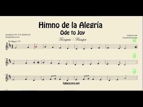 El Himno De La Alegría Oda A La Alegría De Beethoven Partitura De La Novena Sinfonía Partitura Para Himno De La Alegria Letras Y Acordes Partituras Trompeta