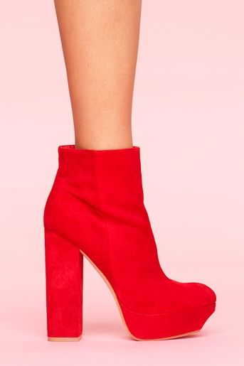 Jemma Platform Boot - Red  $220.00  Style #: 10131