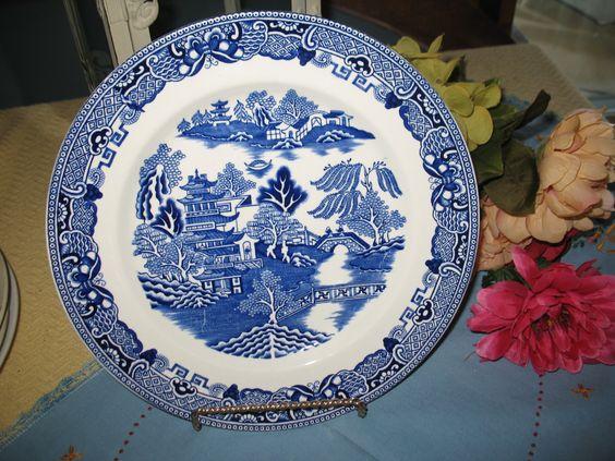 Assiette Gresley england Pottery bleu de la boutique MadoKim sur Etsy