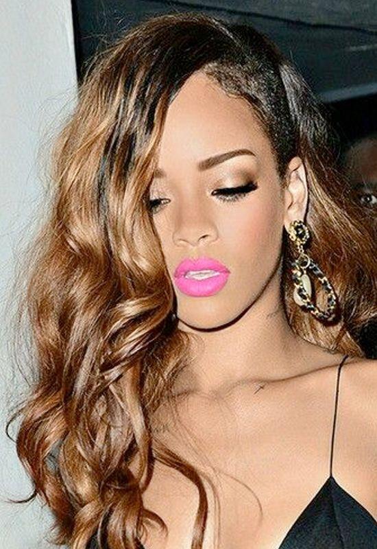 Lip colour for black dress