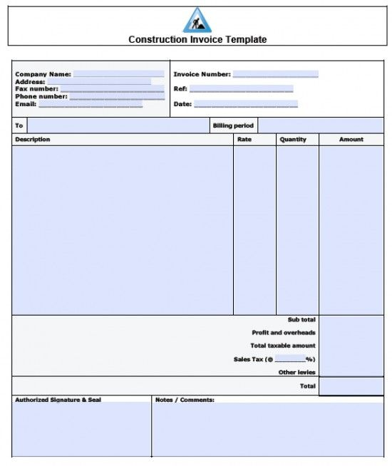 51 best Excel Template images on Pinterest Template, Role models - construction invoice templates