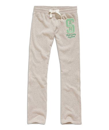 Another great find on #zulily! Beige Melange San Diego Lounge Pants by TIMEOUT #zulilyfinds