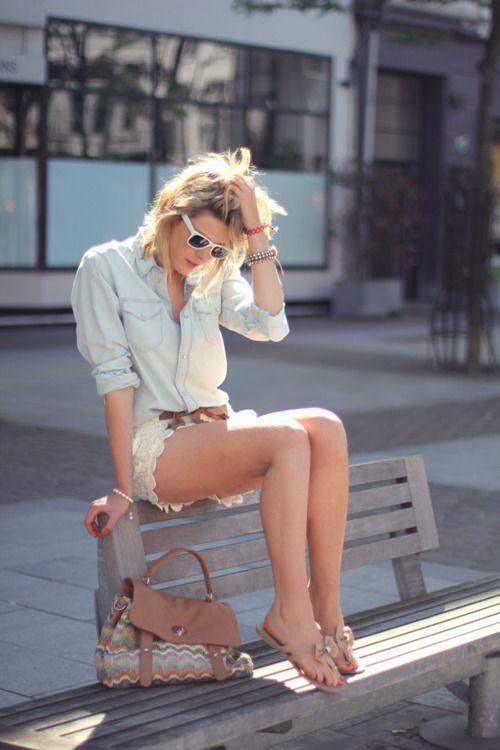 denim + lace