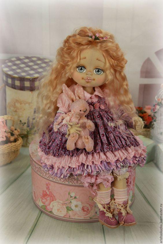 Купить Бриджит . Кукла авторская текстильная artdoll - шебби, шебби шик, бохо, бохо-стиль:
