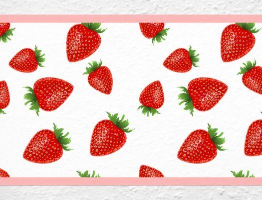 Erdbeeren Bordüre für die Küche