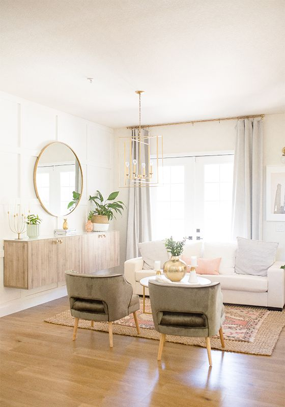 Modern Living Room Makeover On A Budget One Room Challenge Room Makeover Small Living Rooms Living Room On A Budget #small #living #room #makeover
