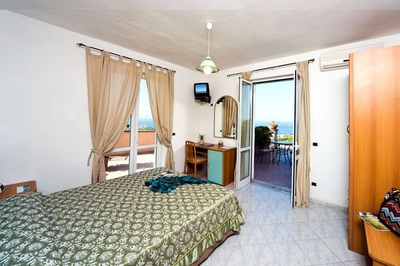 Panoramic views of the Med and town of Forio from your hotel room