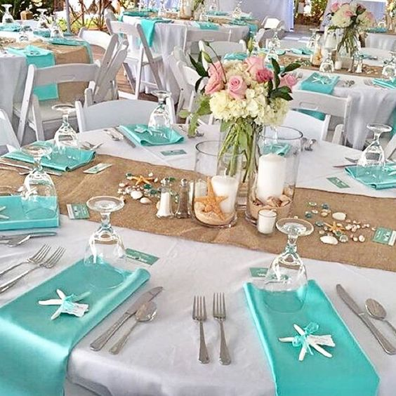 Round table for wedding reception