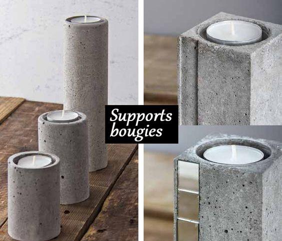 beton creatif idee bougie diy b ton projets pinterest blog and deco. Black Bedroom Furniture Sets. Home Design Ideas