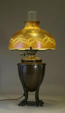 Tiffany Studios Oil Lamp Oil Lamps Stained Glass Lamps Antique Oil Lamps