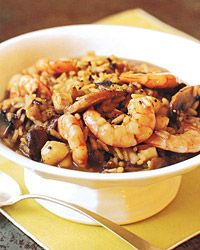 Shrimp and Bay-Scallop Risotto with Mushrooms Recipe