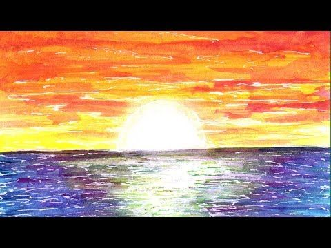 Spotlight Art Timelapse Ocean Sunset Youtube Sunset Painting