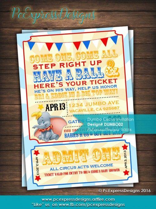 dumbo circus baby shower birthday invitation shops baby showers and