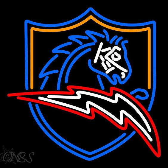 San Diego Chargers Alternate 1997 2001 Logo Nfl Neon Sign