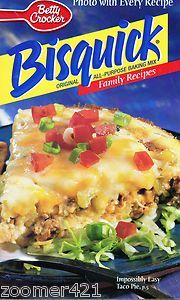 Mouse over image to zoom                                     Have one to sell? Sell it yourself         Betty Crocker Bisquick Family Recipes Cookbook Booklet photo with every recipe                                                                                                   betty crocker bisquik booklet recipes