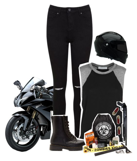 """Apocalypse"" by xylona ❤ liked on Polyvore featuring мода, Miss Selfridge, Daydreamer, Dr. Martens, Revolver и Shield"