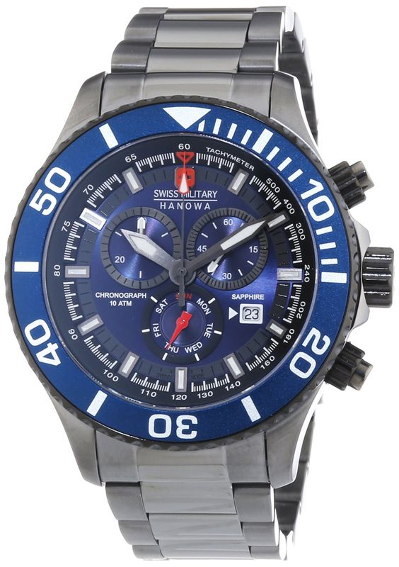 Swiss Military 6-5226-30-003 Mens Immersion Gun Chronograph Watch