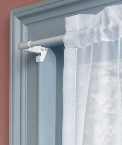 Twist and Fit Tool-Less Single Curtain Rod
