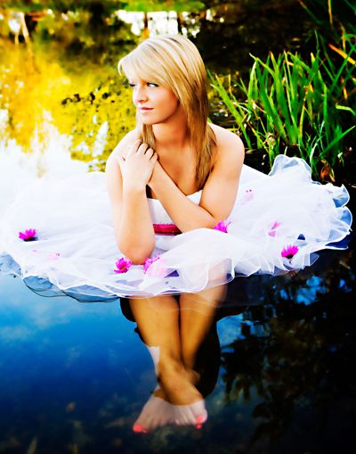 Senior picture: Water session.