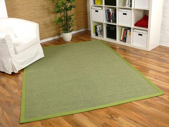 Sisal Astra Natur Teppich Grün Bordüre Grün Teppiche Sisal und Naturteppiche Sisal Teppiche mit Bordüre