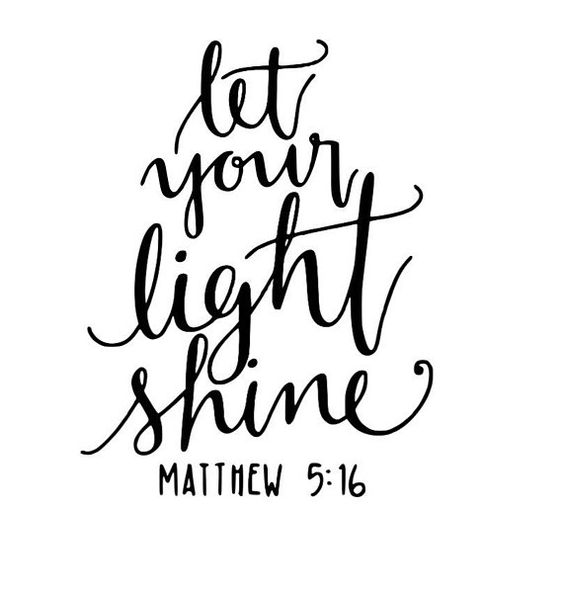 Let your light shine - Jesus God Svg Faith SVG Light shine svg Mathew 516 SVG