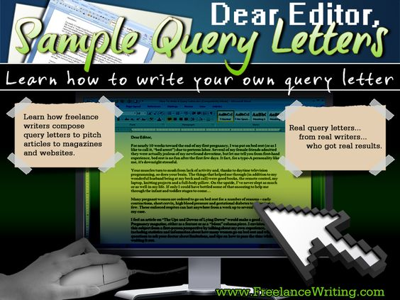 Free Sample Query Letter Templates Learn How Freelance Writers