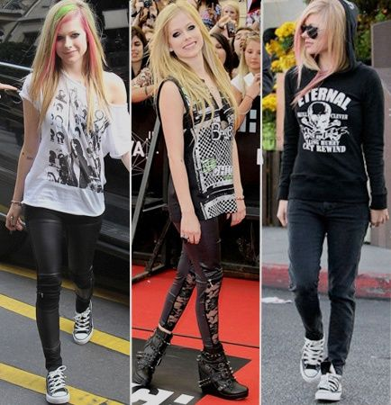 For the production of red carpet to the most casual, Avril always find a way