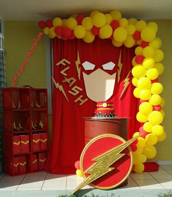 Flash Theme Party Diy Festa De Aniversario Festa Do Flash