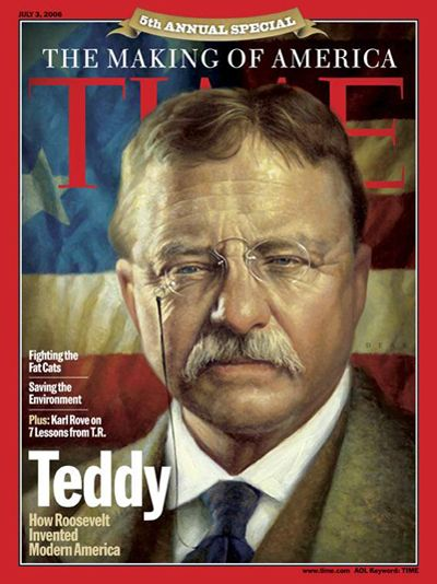 """Teddy stays with us because he seems so much like one of us. Although he was born in 1858, it's the 20th century he decidedly belongs to, the century he brought America into on his terms.""  —Richard Lacayo, July 3, 2006    Read more here: http://ti.me/KzujmR"