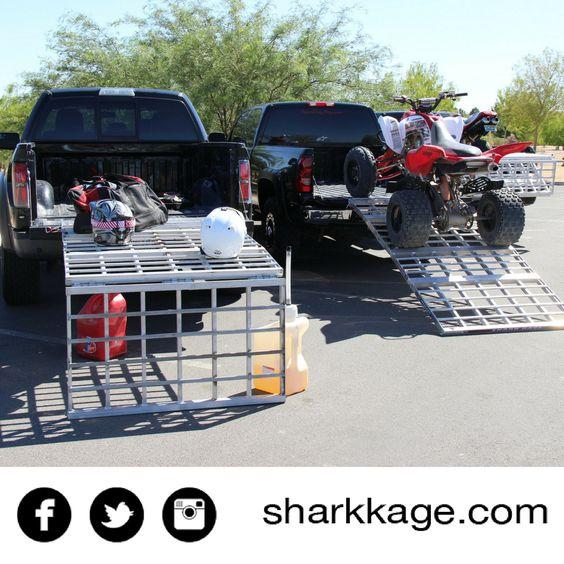 work table loading ramp bed extender shark kage