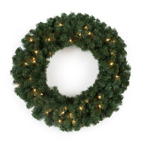 Find it at the Foundary - Elegant Pine Pre-Lit Wreath