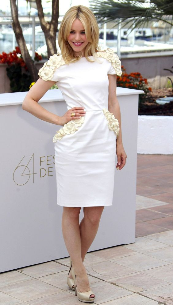 Rachel McAdams at Cannes. Her style is great.