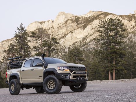 Go Far And Wide With The Aev Built Chevrolet Zr2 Overlanding Truck Chevrolet Colorado Chevy Colorado Z71 Chevy Trucks